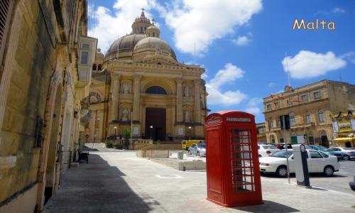 Malta - Pjazza San Gwann Battista (Xewkija)