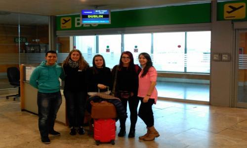 Erasmus de Educación Infantil en el aeropuerto de Barajas (2016)